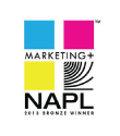 Marketing+ 2013 Winner. Modern Litho and Brown Printing are proud to be recognized by The NAPL Marketing Plus™ Program, honoring marketing excellence by graphic communications companies in a dozen categories, representing a wide range of marketing activity, from corporate identity programs and direct mail to sales/lead generation and website development