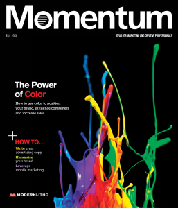 Fall 2013 Issue of Momentum Magazine