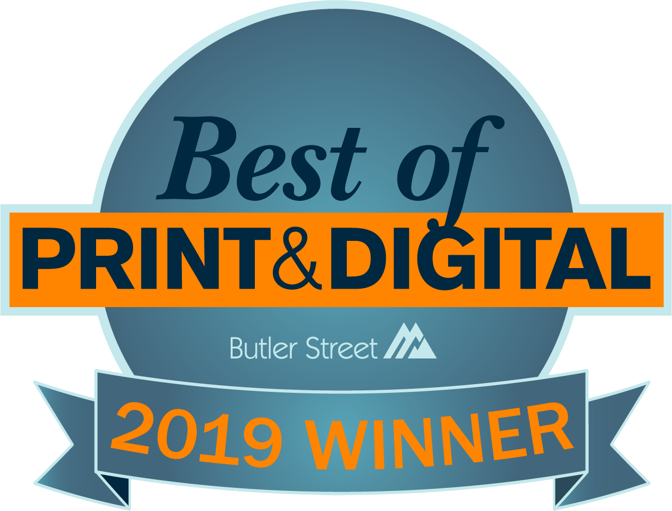 The Best of Print and Digital Award is based on independent survey research performed by Butler Street Research for the print and digital industry. A company's Net Promoter Score© is calculated by subtracting the % of Detractors (those who rated their likelihood to recommend a company with a 6 or below) from the % of Promoters (those rated them a 9 or a 10) . It focuses on client loyalty, not just satisfaction to measure the customer experience with an organization.