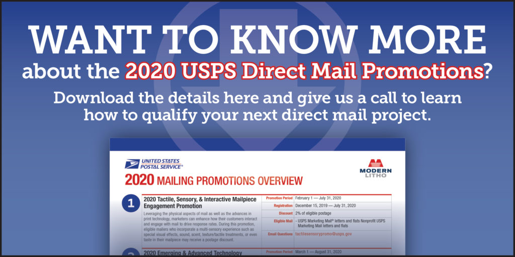 2020 USPS Mail Promotions_Courtesy of Modern Litho